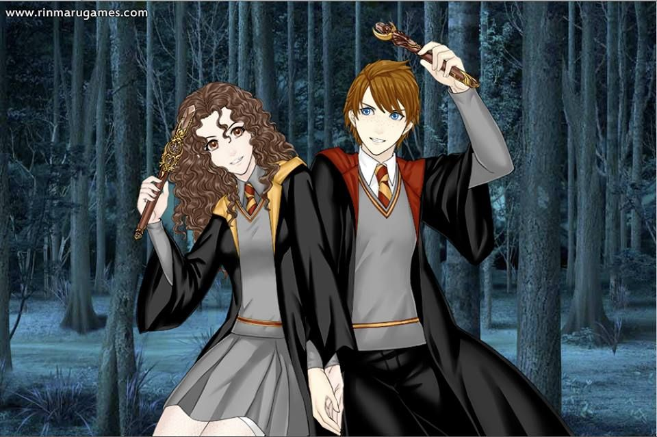 Ron Weasley and Hermione Granger from Harry Potter in