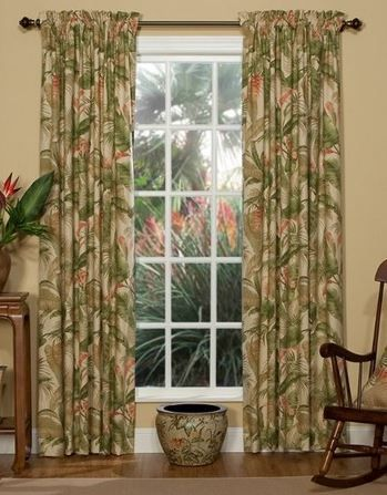 Tropical Curtains For Your Hawaiian Home The