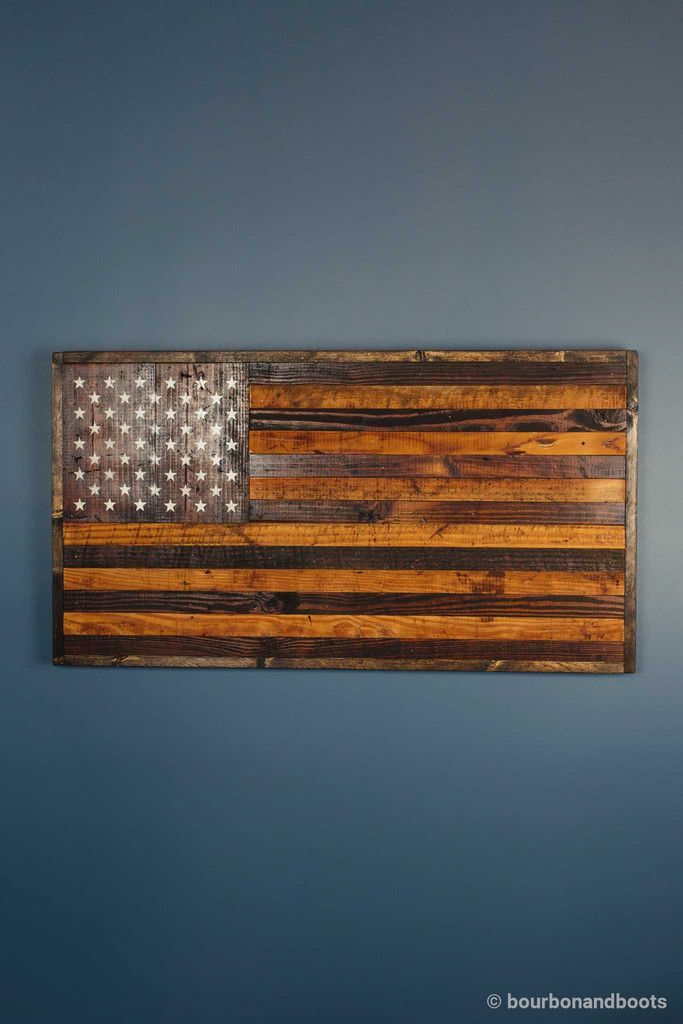 Reclaimed Barnwood Rustic American Flag 140 Rustic Decor For The