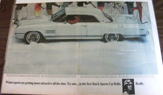 1964 Buick Wildcat  Full  Page Magazine Ad