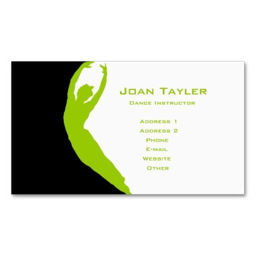 Dance Instructor Business Card Zazzle Com Dance Instructor Teacher Business Cards Business Card Template
