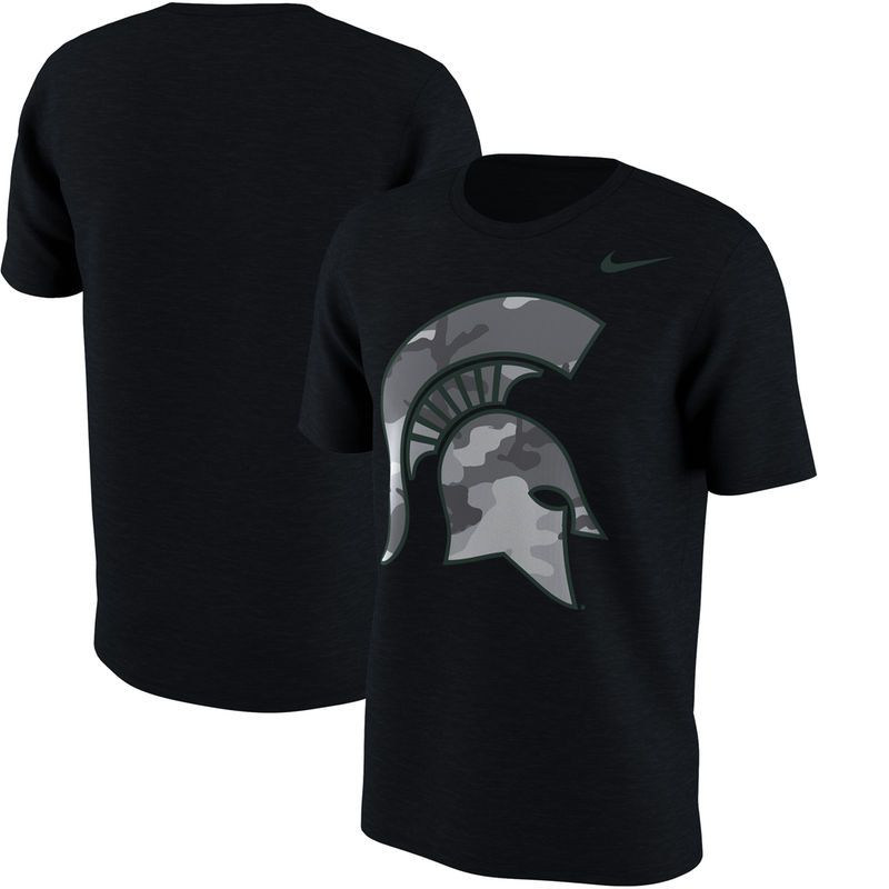 Michigan State Spartans Nike Camo Pack T-Shirt - Black