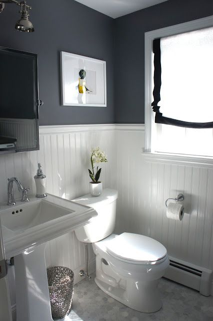 Great Bathroom Colors great bathroom layout wiyh beadboard. rock graybenjamin moore