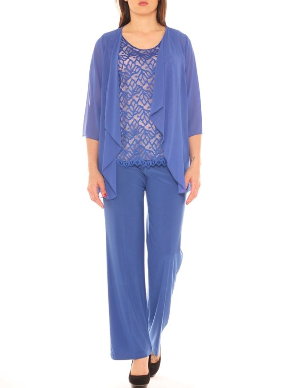24ddee912422 Completo donna elegante twin set e pantalone palazzo taglia morbida ...