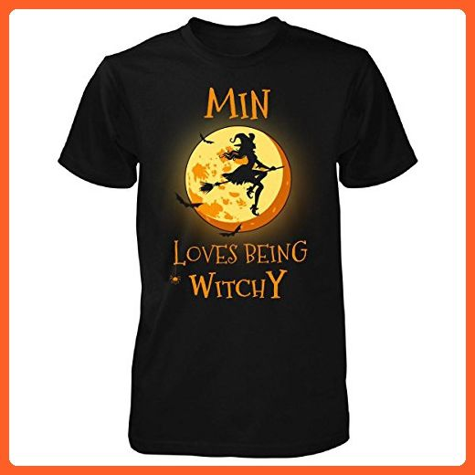 Min Loves Being Witchy. Halloween Gift - Unisex Tshirt Black S - Holiday and seasonal shirts (*Partner-Link)