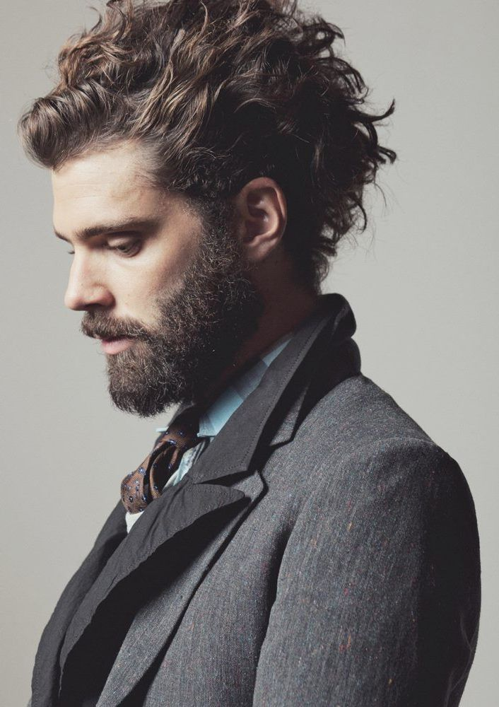 Mens Curly Hairstyles Enchanting Mens Curly Hairstyles With Beards More Picture Mens Curly Hairstyles