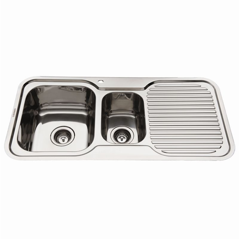 Nugleam 980 Kitchen Sink With 1 1 2 Rh Bowl With Drainer I N