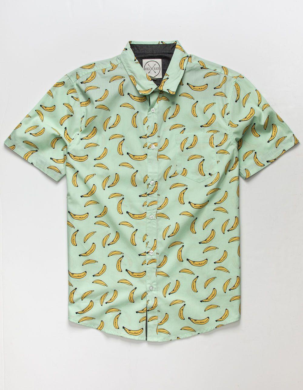 Birch Black Bananas Mens Button Up Shirt Jade 366393509 Mens Button Up Button Up Shirts Mens Printed Shirts