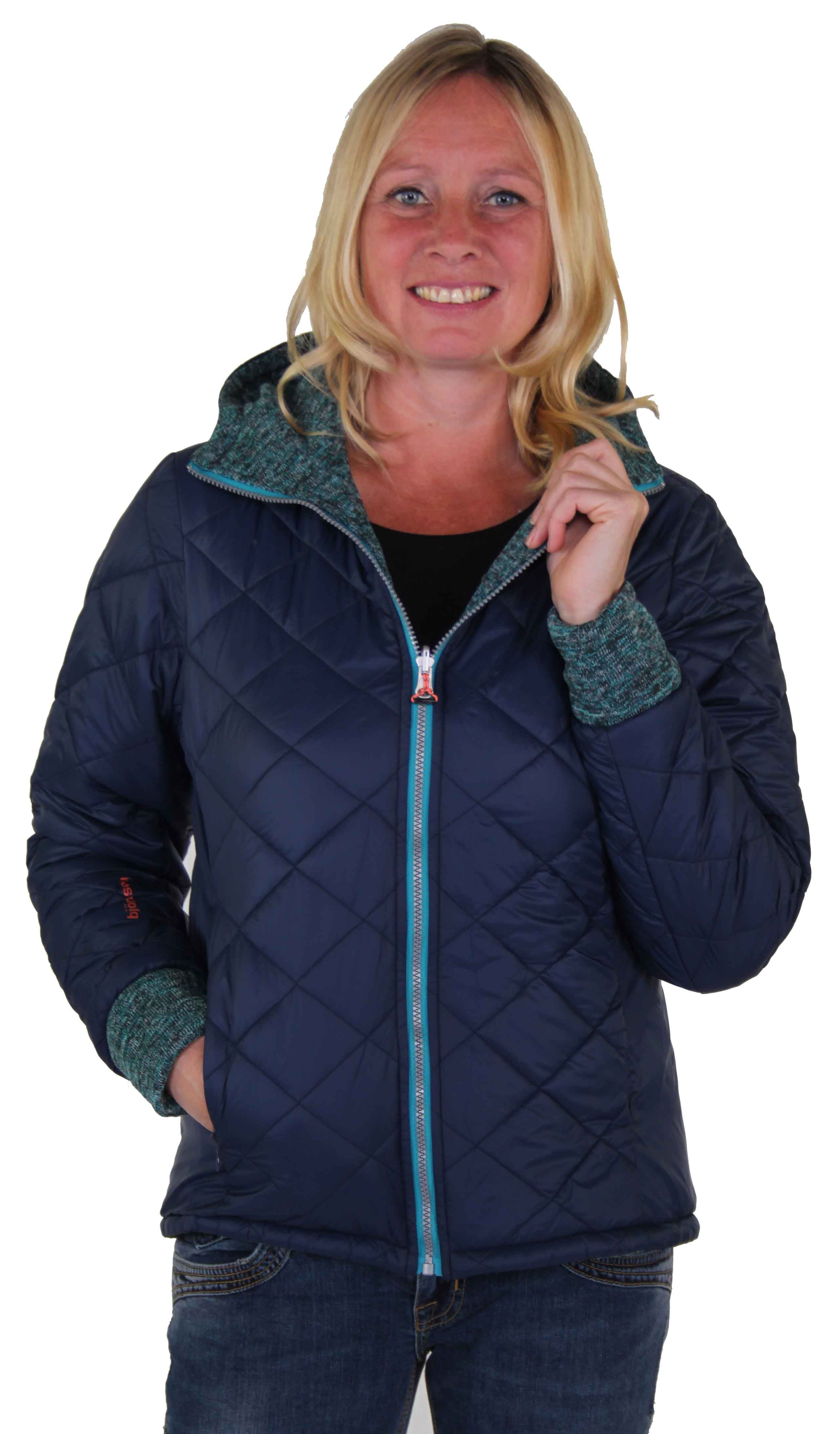 Blauw winddicht reversible dames vest kopen Bjornson.nl