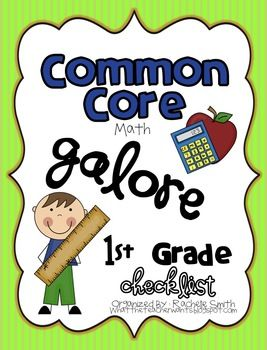 This Common Core State Standards checklist is for 1st grade {MATH}. It's a great way to organize the Common Core and to make sure you are teaching every part of the core. It's a perfect tool to keep you organized and aware of your students' mastery in each part of the Common Core Math.