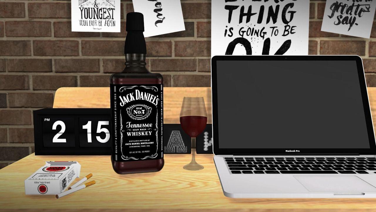 Jack Daniel's Whiskey Bottle Deco by MXIMS.