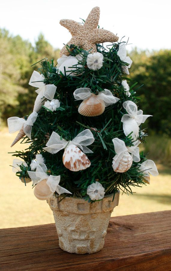 Small Table Top Christmas Tree Beach Theme by ...