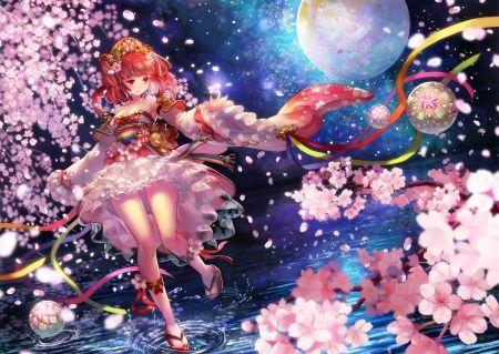 Cherry Blossom Night Desktop Nexus Wallpapers Anime Images Anime Anime Cherry Blossom Cherry blossom night anime wallpaper