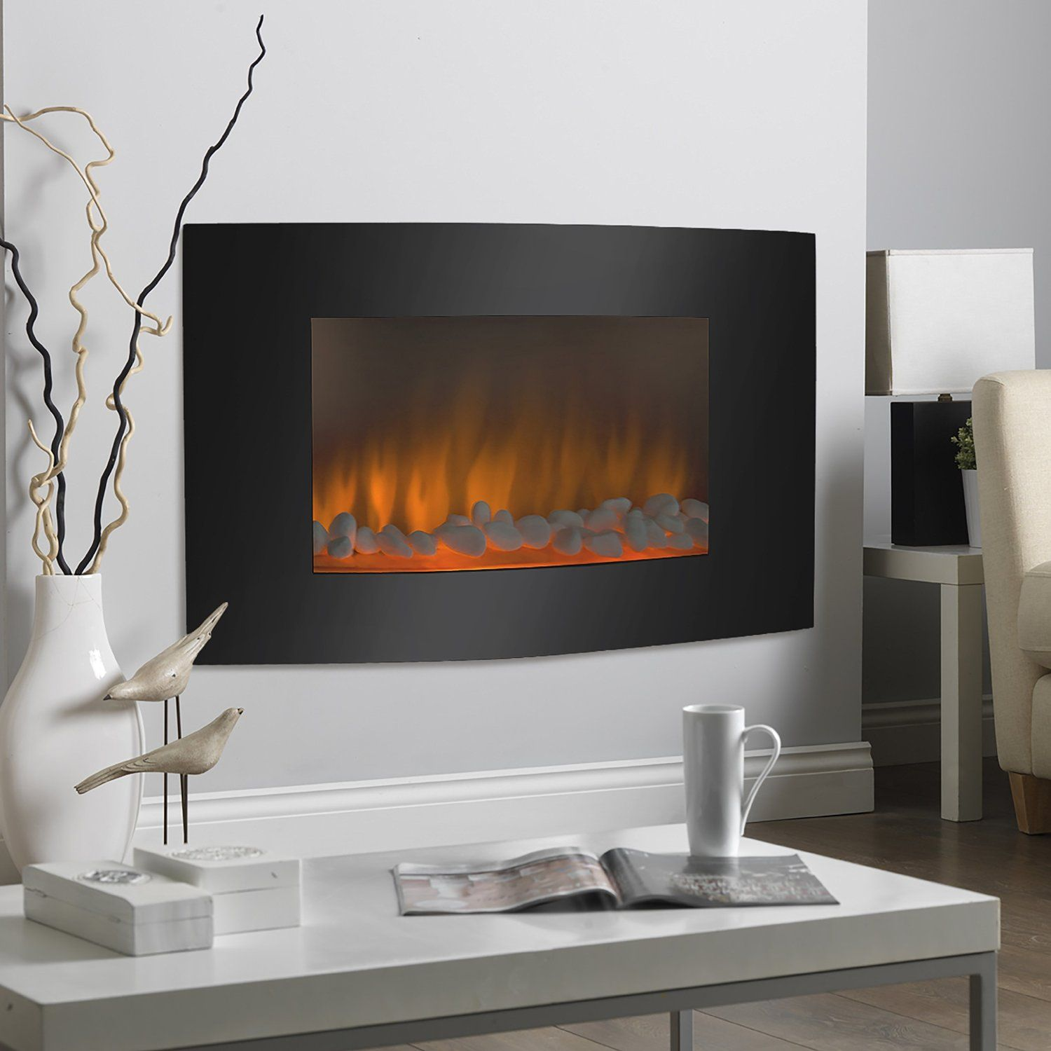 Smokeless Fireplaces Are Great Fixtures For Modern Homes If You Have A Modern House You Ma Fireplace Heater Electric Fireplace Heater Best Electric Fireplace