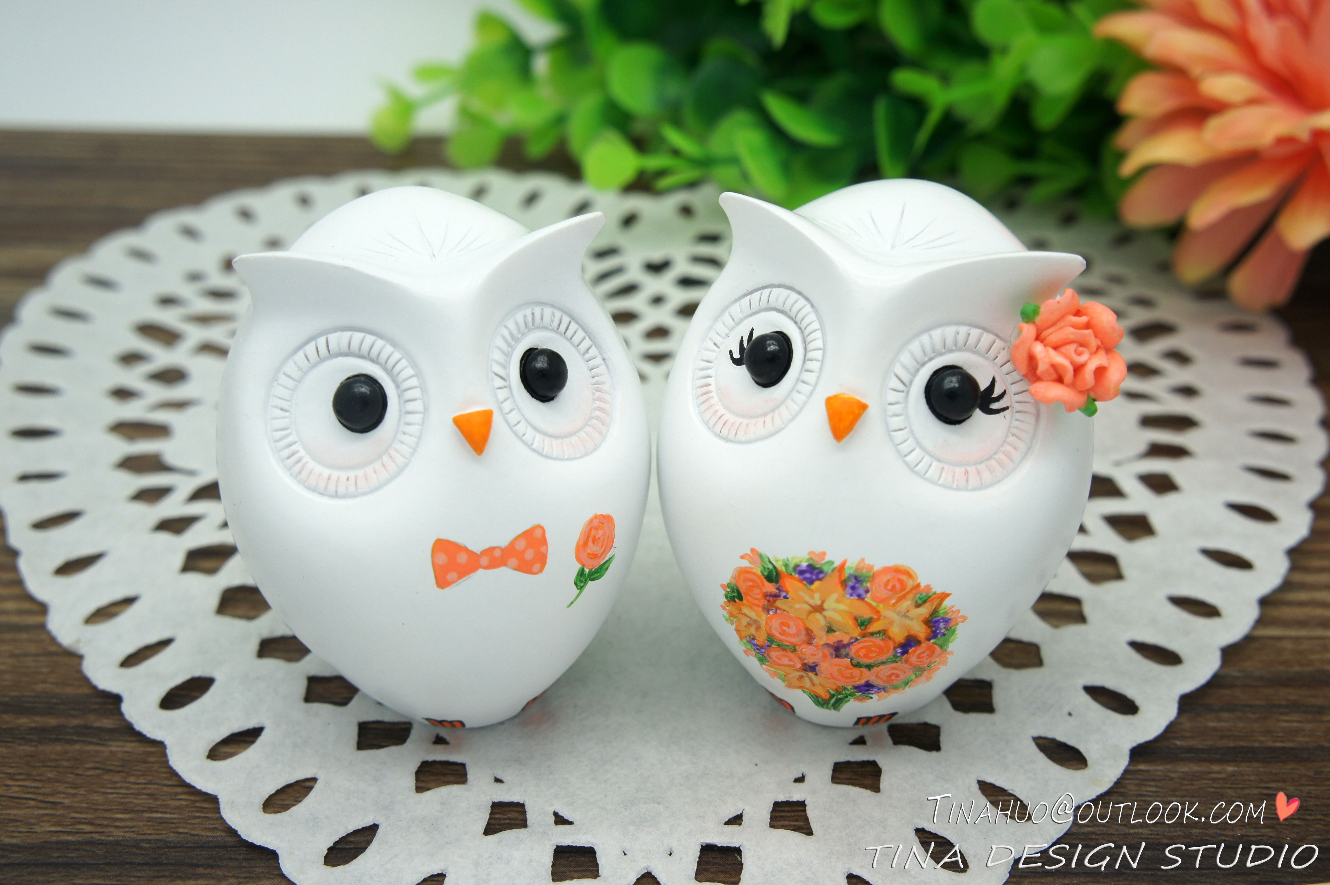 Cheap Owl Wedding Cake Toppers Fall Themed-Fall Wedding Cake Toppers ...