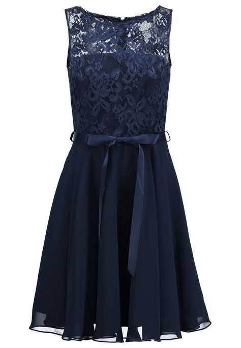 Swing Cocktailkleid / festliches Kleid - schwarz blau ...