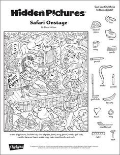 graphic regarding Hidden Objects Printable known as Safari Onstage\