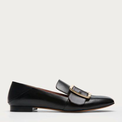 JANELLE - BLACK CALF Flats