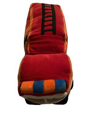 """Pillowfort Fire Truck Throw Pillow Red 18"""" Large Red Blue Orange Soft Pillow"""