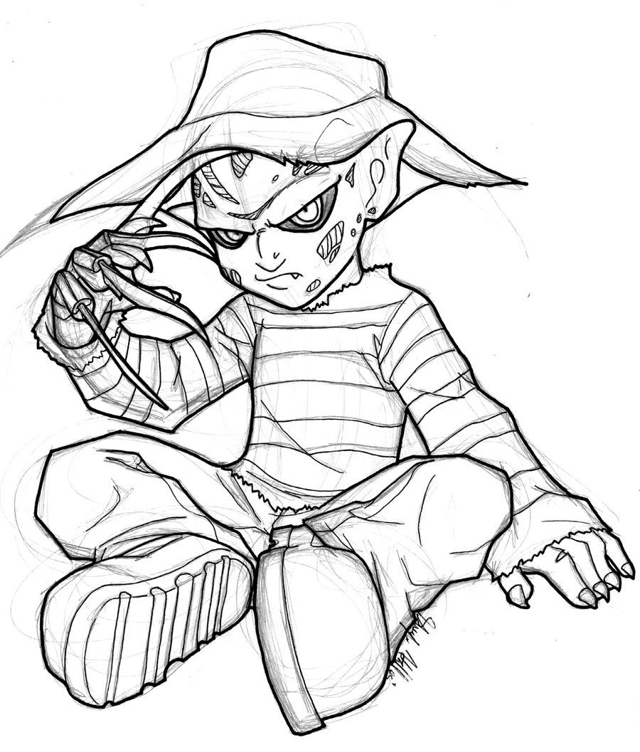 Freddy kruger coloring pages ~ Baby Freddy by AstroZerk.deviantart.com on @DeviantArt ...