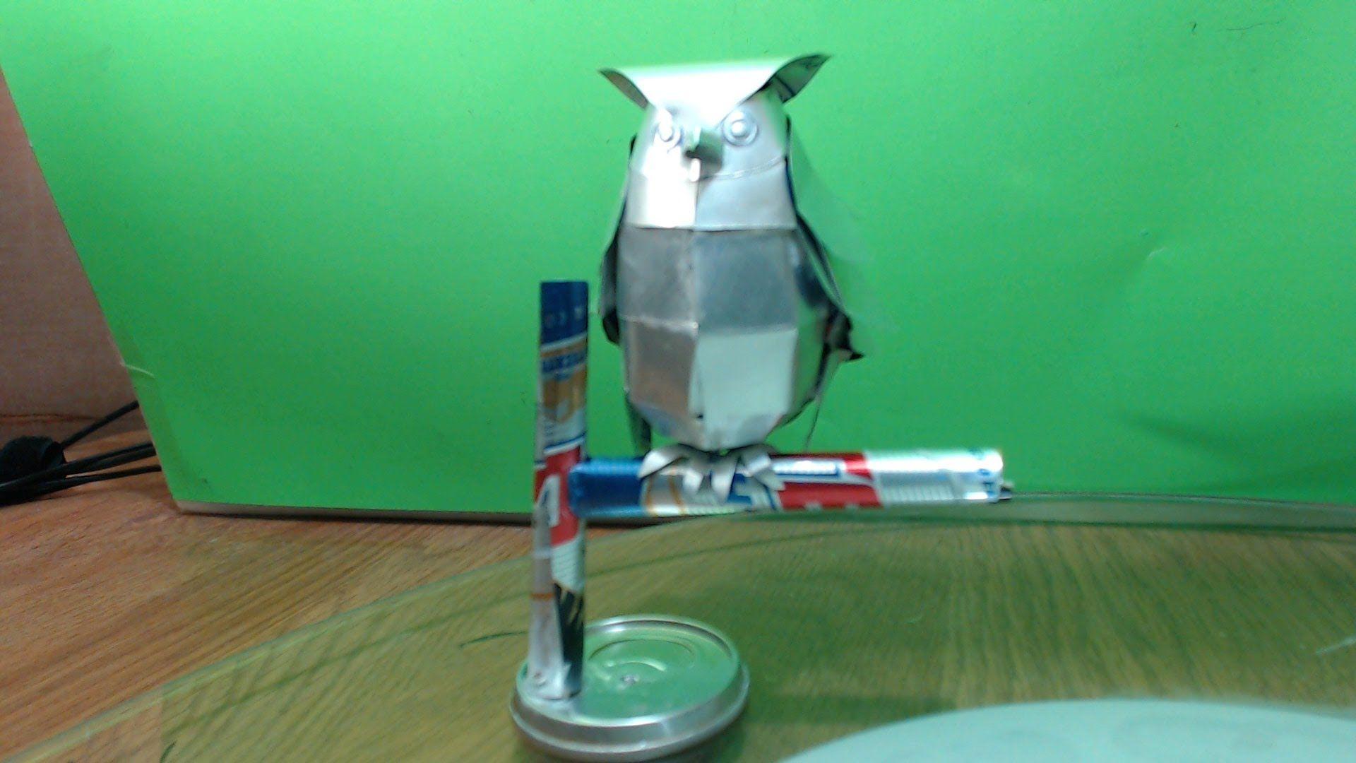 Buho Hecho Con Latas De Aluminio Tutorial
