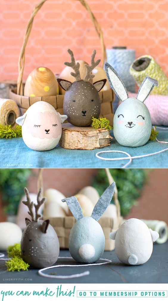 Painted Animal Easter Eggs DIY Tutorial - Lia Griffith