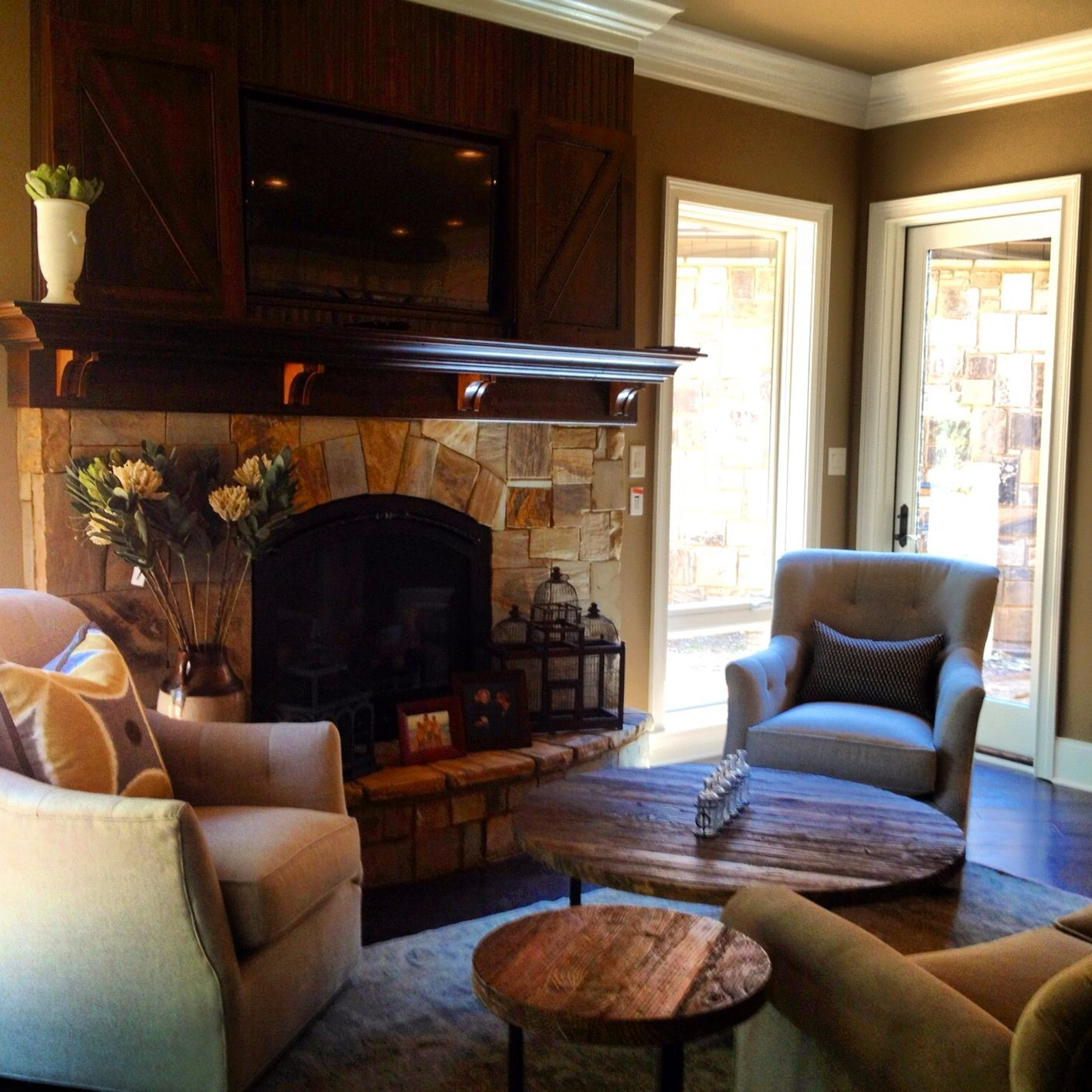 Cozy Hearth Room I Recently Completed Fireplace Seating Hearth Room Room Design