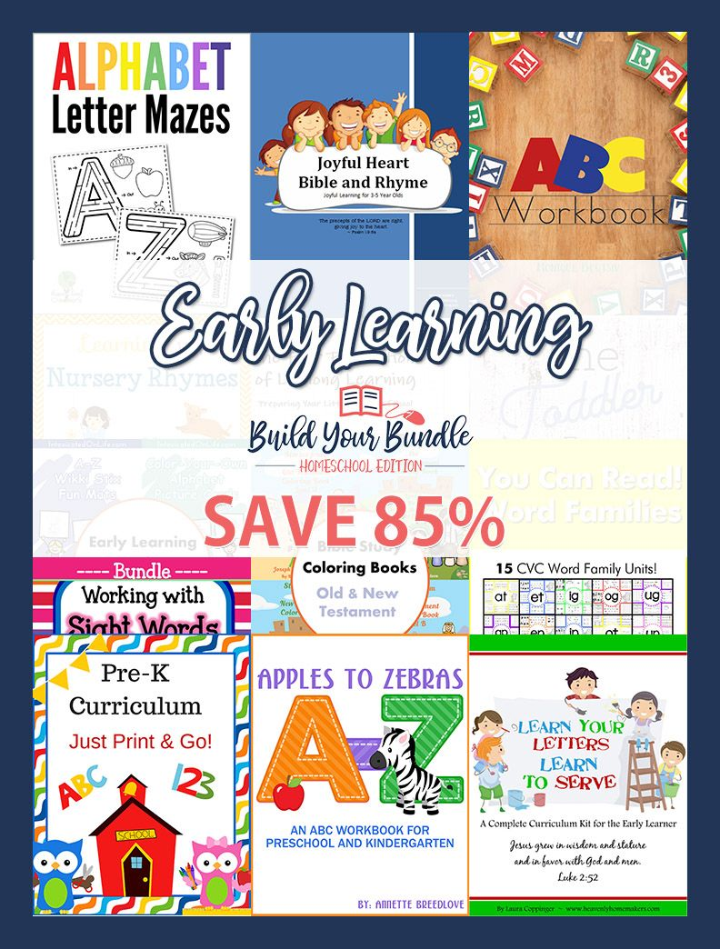 Early Learning Bundle - 85%! | Best of Yellow Wood! | Pinterest ...