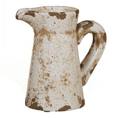 Crackle Pitcher Vase