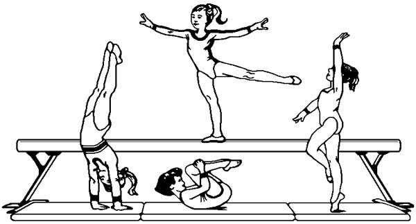 Gymnastics Coloring Pages Sports Coloring Pages Coloring Pages Coloring Pages For Kids