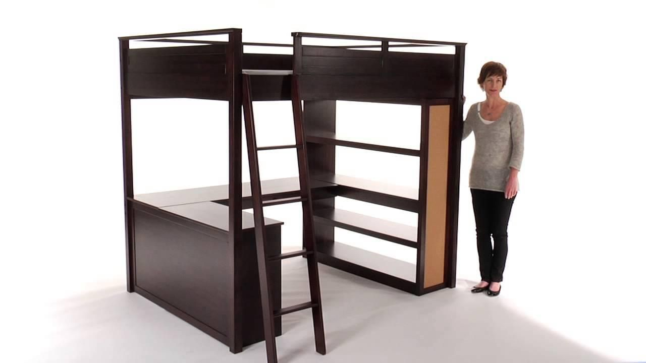 Loft bed with desk girls  Teen Loft Bed With Desk  Ordinary Cool Beds For Small Rooms
