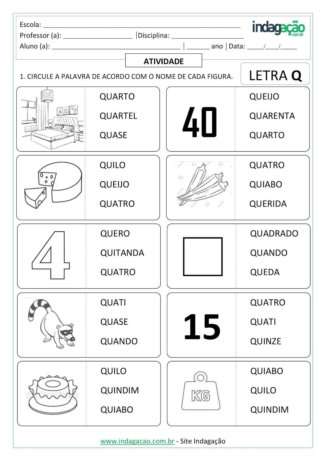 Sequencia Alfabetica Para Ditado Da Letra Q Imprimir Atividade Em