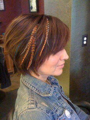 hair feathers for short hair