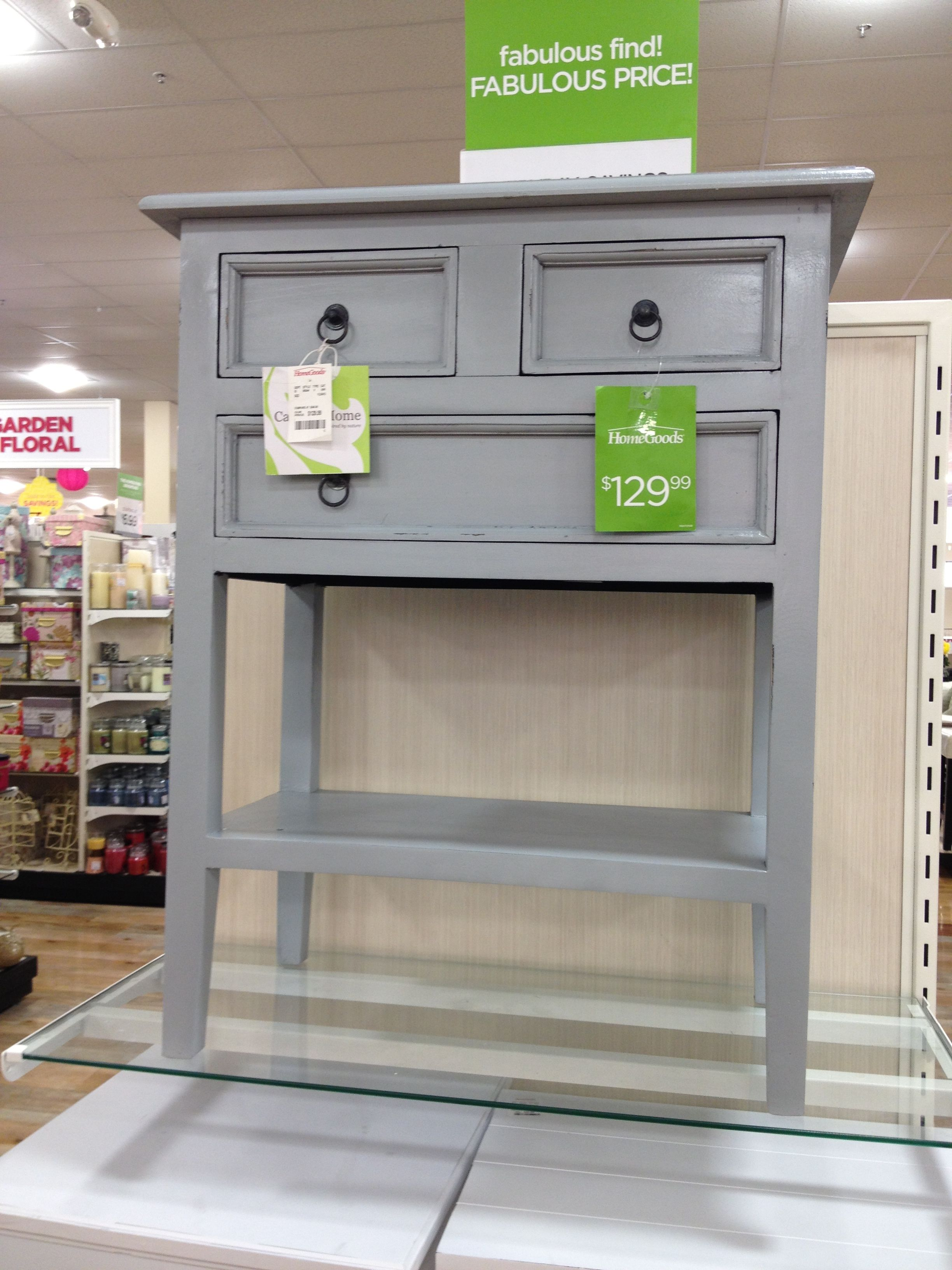 Night Stand Or End Table 130 Home Goods Furniture Living Room Grey