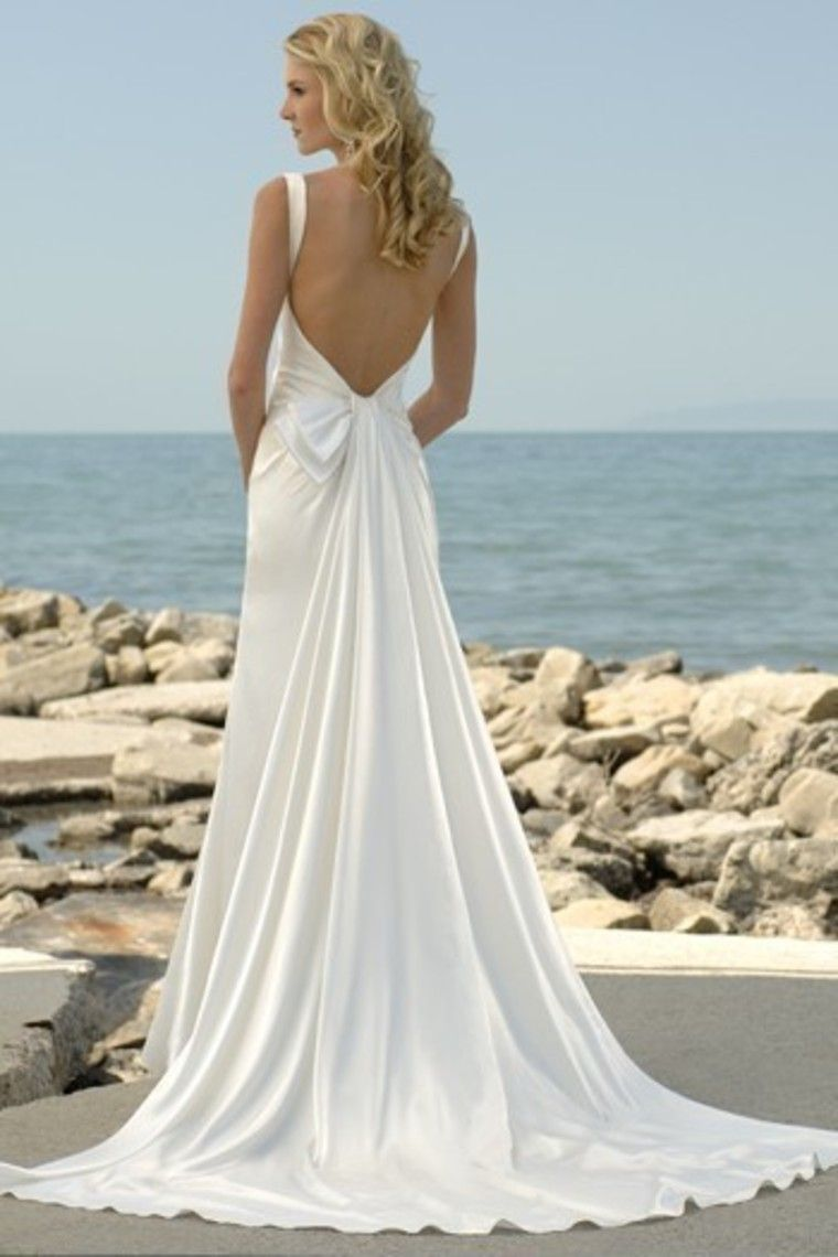 Enhance Your Glamour with a Backless Wedding Dresses | Summer beach ...