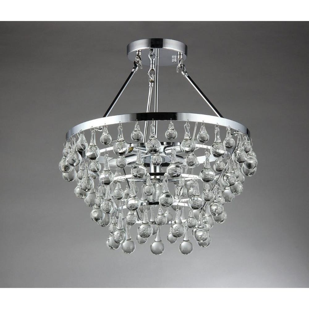 Warehouse Of Tiffany Eleanor 5-Light Chrome Crystal
