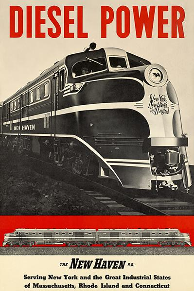 Diesel Power - New Haven Railroad Company - 1930's - Travel