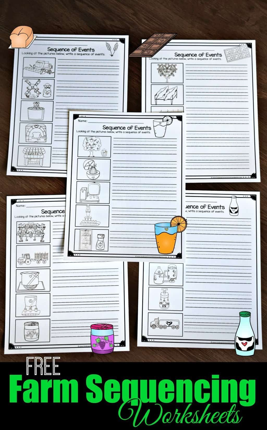 Free Printable Sequencing Worksheets Free Farm Sequencing