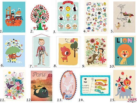 posters, muur, decoratie, muurdecoratie, kinderkamer, babykamer, Deco ideeën