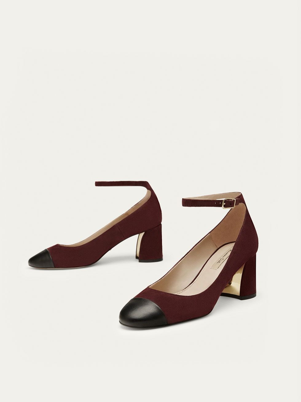 97c02d9a52 Spring Summer 2017 Women´s BURGUNDY LEATHER HIGH HEEL COURT SHOES at  Massimo Dutti for 165. Effortless elegance!