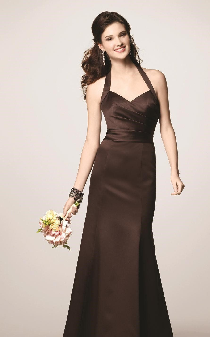 Alfred angelo 7142 chocolate brown size 12 halter bridesmaid dress alfred angelo 7142 chocolate brown size 12 halter bridesmaid dress ombrellifo Choice Image