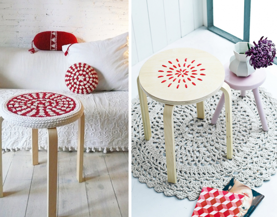 Customiser le tabouret frosta d 39 ikea housses de selles lieux et blog - Customiser un tabouret ...