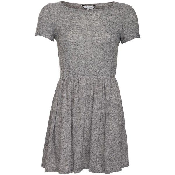 Grey Skater T-Shirt Dress (155 ARS) ❤ liked on Polyvore featuring dresses 52edf1b1e126