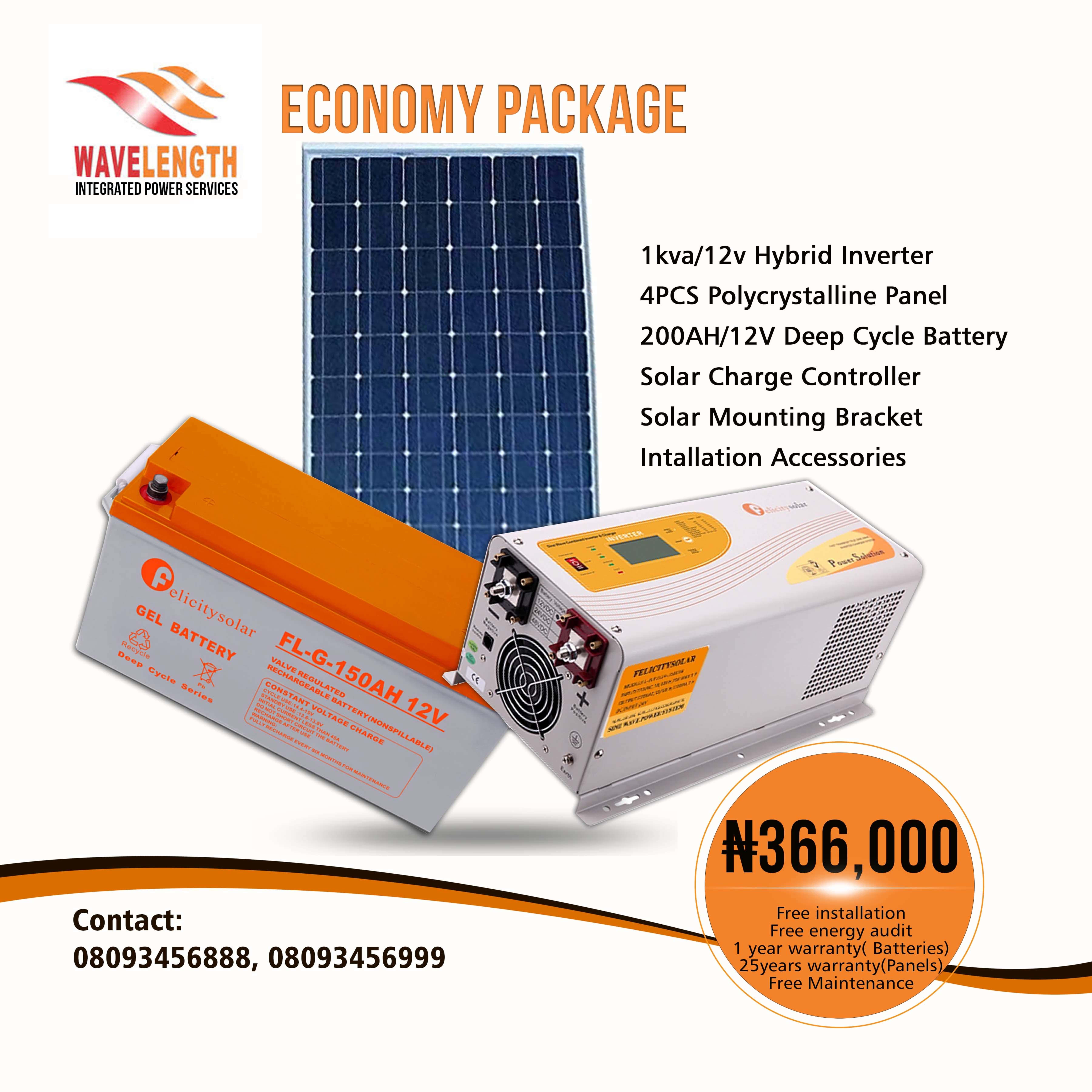 Felicity Solar 1 Kva Solar System Economy Package Dewdom Solar Battery Deep Cycle Battery Energy Saving Bulbs