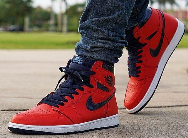 new products 35783 1bed9 Basket Air Jordan 1 Retro High OG David Letterman Light Crimson (2)