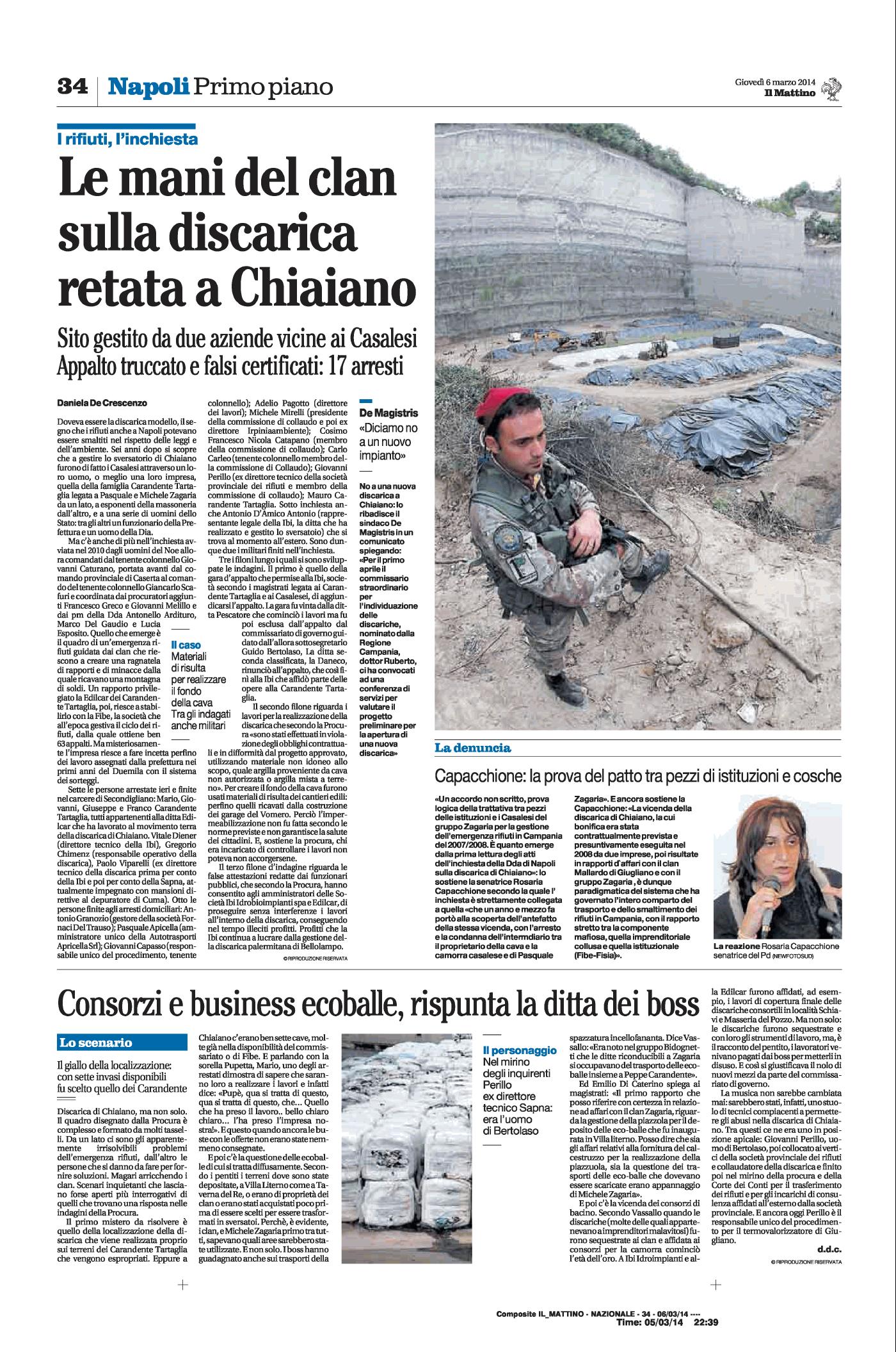 Inchiesta e arresti per la discarica di Chiaiano