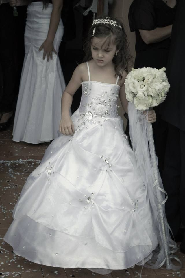 ed560907b837 Mini bride, flowers on a stick , wedding dress, bling , cute , pretty