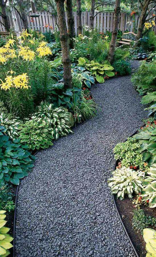Superior Ideas For Beautiful And Affordable Garden Pathways   MORFLORA. Rock  WalkwayGravel ...