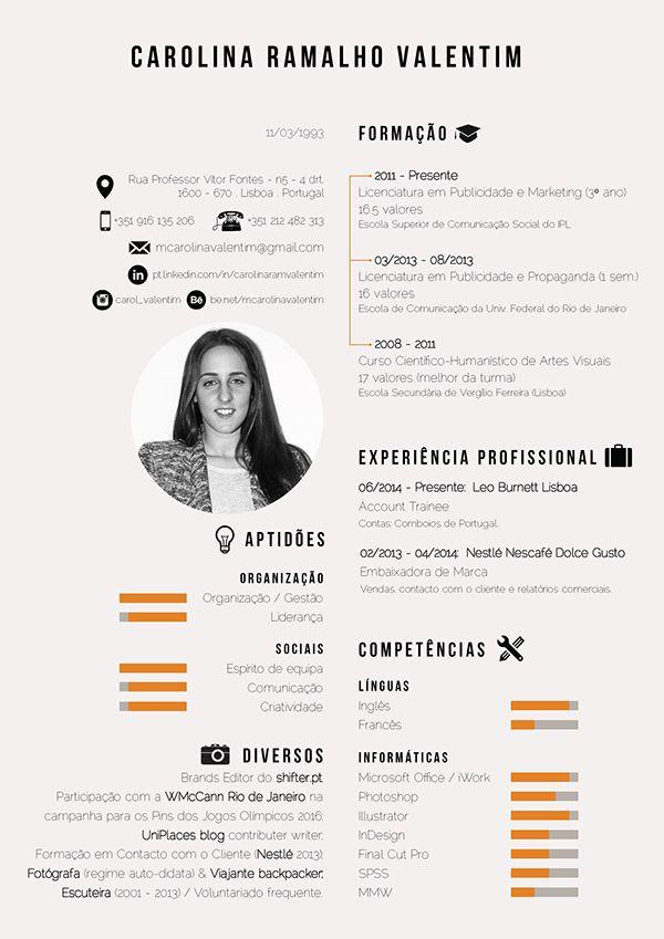 Curriculum Vitae on Behance CV Pinterest Curriculum, Behance - curriculum vitae
