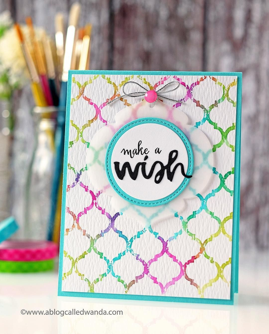 Make a wish had fun creating my own stenciled background for this cards make a wish had fun creating my own m4hsunfo